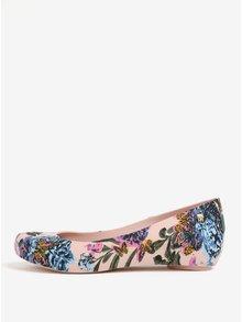 Balerini roz cu print floral si decupaj discret - Melissa Ultragirl