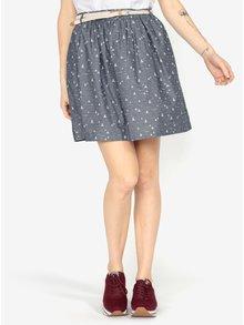 Modrosivá vzorovaná sukňa s opaskom Ragwear Mare B