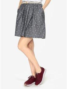 Tmavosivá vzorovaná sukňa s opaskom Ragwear Mare B