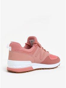 Pantofi sport roz-prafuit pentru femei New Balance WS574