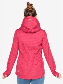 Tmavoružová pruhovaná bunda Ragwear Monade Stripes