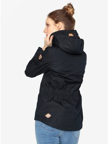 Tmavomodrá pruhovaná bunda Ragwear Monade Stripes