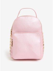 Růžový lesklý batoh MISSGUIDED