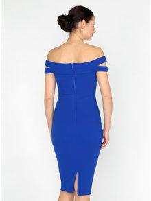 Modré puzdrové šaty s odhalenými ramenami AX Paris