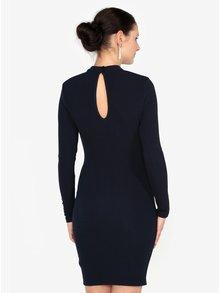 Tmavě modré šaty s průstřihy Paris