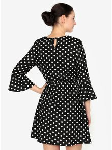 Černé puntíkované šaty AX Paris