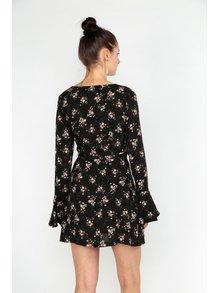 Rochie neagra scurta cu print floral MISSGUIDED