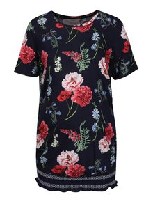 Bluza lunga cu print floral si terminatie elastica  Dorothy Perkins Maternity
