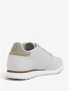 Pantofi sport gri cu model din piele pentru femei Woden Ydun Croco