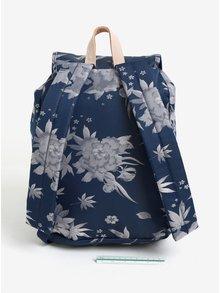 Rucsac albastru cu imprimeu floral pentru femei - Eastpak Superb Special Arayanna 14 l