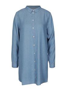 Modrá dlouhá košile Selected Femme Ines