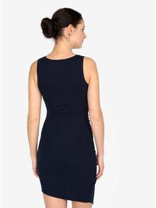 Tmavě modré šaty s překládaným výstřihem AX Paris