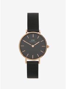 Dámské černé hodinky Daniel Wellington