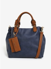 Tmavomodrá kabelka s príveskom Bessie London