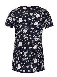 Tmavě modré květované tričko Dorothy Perkins Petite