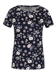 Tmavomodré kvetované tričko Dorothy Perkins Petite