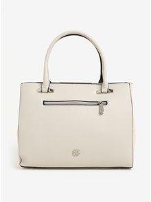 Krémová kabelka s detaily ve stříbrné barvě Bessie London