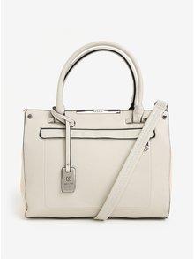 Krémová kabelka s detailmi v striebornej farbe Bessie London