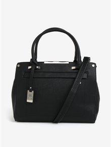 Čierna kabelka s detailmi v striebornej farbe Bessie London