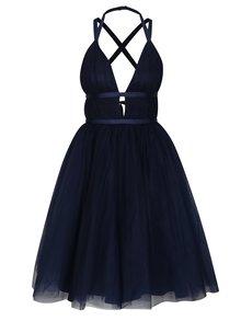 Tmavě modré šaty s odhalenými zády Chi Chi London Ivonette
