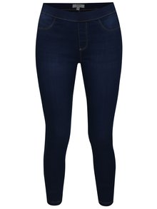 Jeggings cropped bleumarin cu talie clasica - Dorothy Perkins