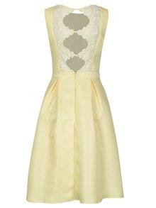 Žlté šaty s čipkou na chrbte Chi Chi London Noelie
