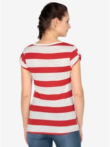 Tricou rosu&crem in dungi -  Haily´s Helen