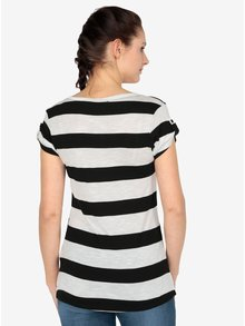 Tricou negru&crem in dungi - Haily´s Helen