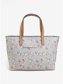 Šedý květovaný shopper Bessie London