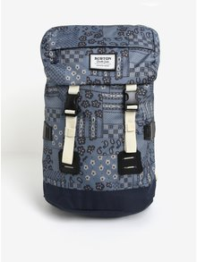 Modrý vzorovaný batoh Burton Tinder 25 l