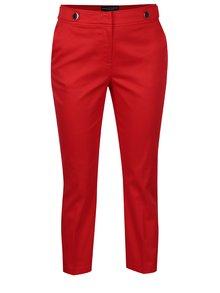 Červené skrátené nohavice s ozdobnými gombíkmi Dorothy Perkins