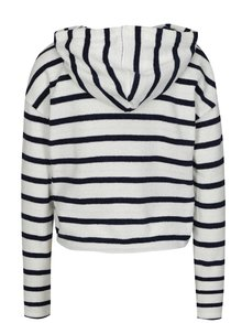 Hanorac tricotat crop bleumarin&alb in dungi TALLY WEiJL