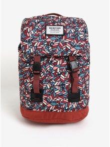 Tehlový dievčenský vzorovaný batoh s chlopňou Burton Youth Tinder 16 l