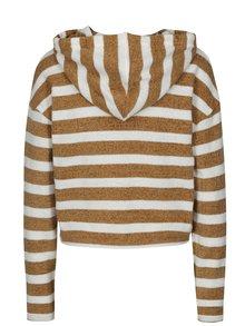 Hanorac tricotat crop maro&alb in dungi TALLY WEiJL