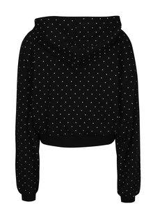 Hanorac crop negru cu print TALLY WEiJL