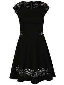 Černé šaty s krajkovými detaily TALLY WEiJL