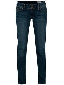Tmavomodré dámske slim fit rifle s nízkym pásom Cross Jeans