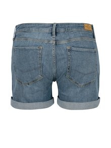 Modré dámske regular rifľové kraťasy s nízkym pásom Cross Jeans