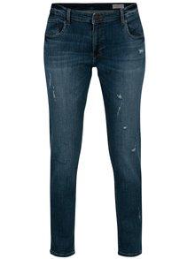 Tmavomodré straight dámske rifle Cross Jeans