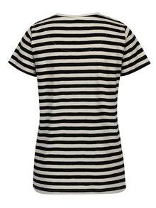 Tricou alb&negru in dungi pentru femei Makia