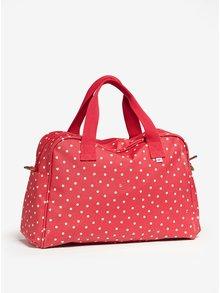 Červená vzorovaná cestovní taška Blutsgeschwister
