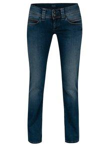 Tmavě modré dámské straight džíny s nízkým pasem Pepe Jeans Venus