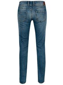 Modré dámské straight džíny s vyšisovaným efektem Pepe Jeans Gen