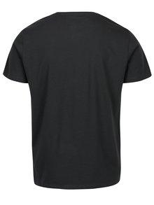 Tricou gri inchis cu print regular fit s.Oliver