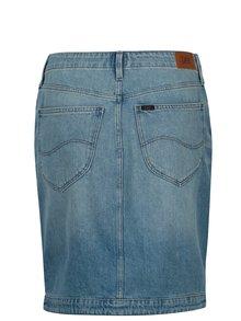 Modrá rifľová sukňa s vysokým pásom Lee
