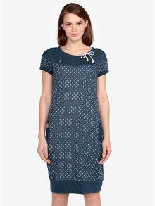 Modré bodkované melírované šaty Ragwear Claire