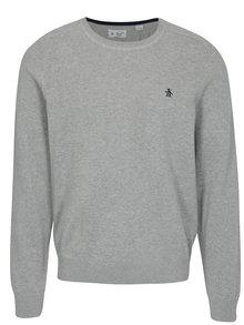 Sivý melírovaný tenký sveter Original Penguin Whiskee days