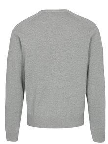 Sivý melírovaný tenký sveter Original Penguin Chester