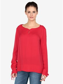 Bluza rosie cu funde la mansete s.Oliver