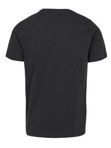 Tmavosivé melírované tričko s potlačou Original Penguin Distressed